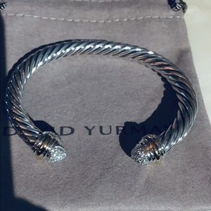 David Yurman 7mm Two Tone Pavè Diamond Bracelet